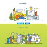 Concept d'illustration - formation linguistique et cours d'école illustration libre de droits