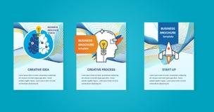 Concept d'illustration - idées créatives, processus, démarrage, pensant, développement illustration stock