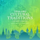 Concept d'illustration d'ornement de pays de la Thaïlande Art traditionnel, abstrait, motifs de tabouret, élément Vecteur décorat Illustration Libre de Droits