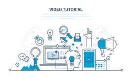 Concept d'illustration - technologie de l'information, promo, media, étude et éducation illustration stock