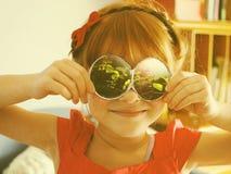 Concept d'imagination avec la petite fille Photos libres de droits