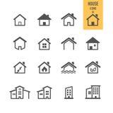 Concept 6 d'immeubles Renfermez le graphisme Images libres de droits