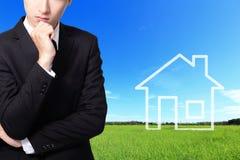 Concept d'immobiliers Images libres de droits