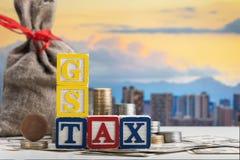 Concept d'impôts de Gst Photographie stock libre de droits