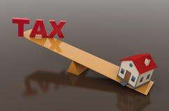 Concept d'impôts avec le modèle de la Chambre 3d Photo libre de droits