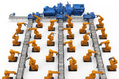 Concept d'industrie d'automation Images stock