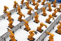Concept d'industrie d'automation Photos libres de droits