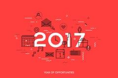 Concept d'Infographic 2017 ans d'occasions Image libre de droits