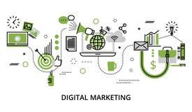 Concept d'Infographic avec des icônes des affaires en ligne, marque d'Internet Image libre de droits
