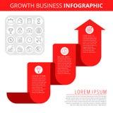 Concept d'Infographic d'affaires de croissance Image stock
