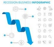 Concept d'Infographic d'affaires de récession Photo libre de droits