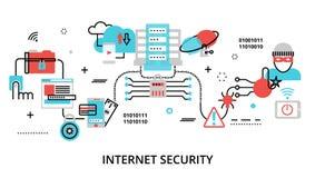 Concept d'Infographic de sécurité d'Internet illustration libre de droits