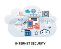 Concept d'Infographic de sécurité d'Internet illustration stock