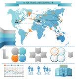 Concept d'Infographic de voyage d'été d'air Photo libre de droits