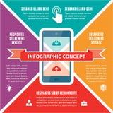 Concept d'Infographic - plan de vecteur avec des icônes Photo stock