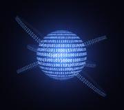 Concept d'informatique quantique illustration libre de droits