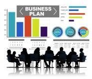 Concept d'infos d'idée de stratégie de séance de réflexion de graphique de plan d'action Images stock