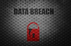 Concept d'infraction de données photos libres de droits