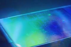 Concept d'ingénierie d'affichage à cristaux liquides de l'électronique de technologie Image libre de droits