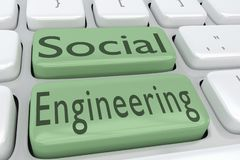 Concept d'ingénierie sociale illustration libre de droits