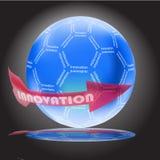 Concept d'innovation avec le globe lustré Images stock