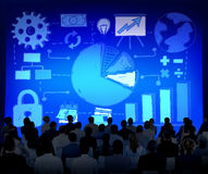 Concept d'innovation d'idées de données de vente de plan de stratégie Photos stock