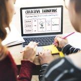 Concept d'innovation d'idées de pensée créative Image stock