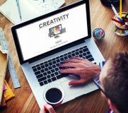 Concept d'innovation d'imagination d'idées de capacité de créativité photos libres de droits