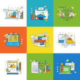 Concept d'innovation, de conception graphique, de succès dans l'étude et de travail illustration de vecteur