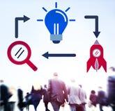 Concept d'innovation de vision d'imagination d'inspiration d'idées images libres de droits