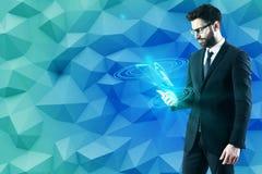 Concept d'innovation et de communication Photo stock