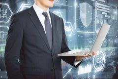 Concept d'innovation et de cryptographie photo libre de droits