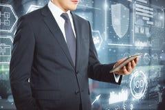 Concept d'innovation et de cryptographie photographie stock libre de droits