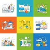 Concept d'innovation, vente, succès dans l'étude, investissement, lieu de travail illustration stock