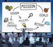Concept d'inspiration d'action de formation de compétence de mission photographie stock libre de droits