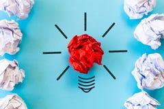 Concept d'inspiration et de grande idée image stock