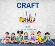 Concept d'Instrument Tools Equipment d'artisan de métier Images libres de droits