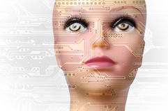 Concept d'intelligence artificielle photos stock