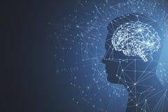 Concept d'intelligence artificielle et d'esprit Image stock