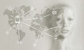 Concept d'intelligence artificielle - Internet, réseau, globalizati photos libres de droits