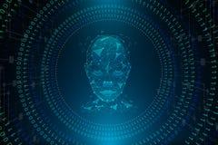 Concept d'intelligence artificielle sur le fond abstrait illustration de vecteur