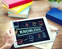 Concept d'intelligence d'analyse d'éducation d'université de la connaissance Photos stock