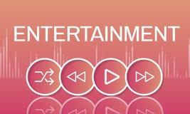 Concept d'interface d'icônes de boutons de multimédia illustration libre de droits