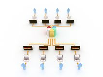 Concept d'Internet Image libre de droits