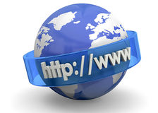 Concept d'Internet - 3D Photographie stock libre de droits