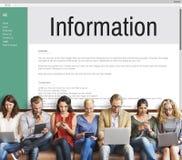 Concept d'Internet de site Web d'interface de données de l'information photographie stock