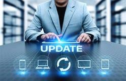 Concept d'Internet de technologie d'affaires de mise à jour de programme informatique de logiciel de mise à jour images stock