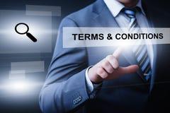 Concept d'Internet de technologie d'entreprise de services d'accord de termes et conditions photos libres de droits