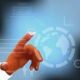 Concept d'Internet de vecteur - avec des icônes de media Images stock