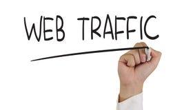 Concept d'Internet du trafic de Web Images stock
